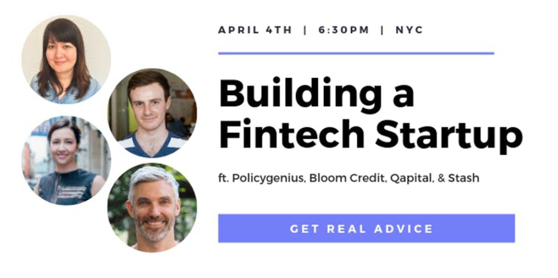 Building a Fintech Startup   Events   Explore Group